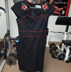 Hell Bunny Vixen Rockabilly pinup dress jrs sz xl